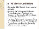 32 the spanish candidature