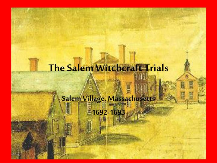 the salem witchcraft trials n.