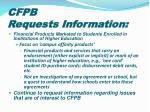 cfpb requests information