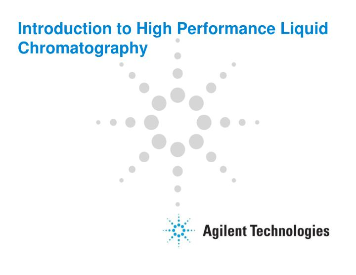 introduction to high performance liquid chromatography n.