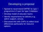 developing a proposal
