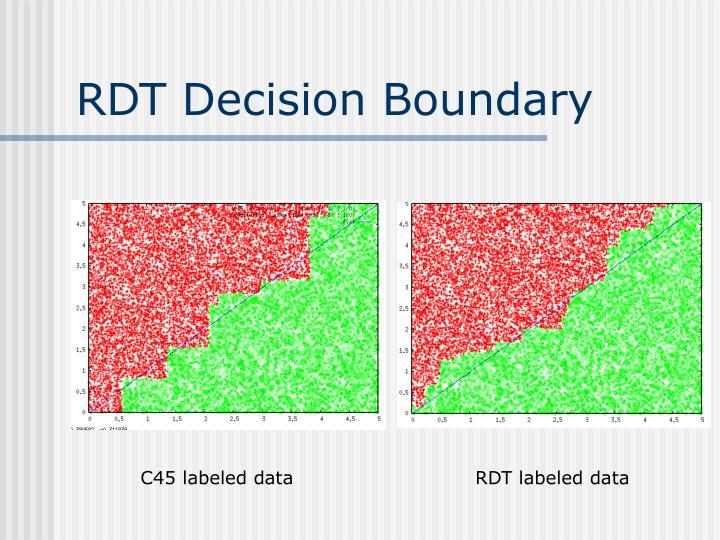 RDT Decision Boundary
