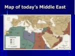 map of today s middle east