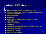 what is isis about