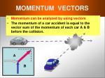 momentum vectors