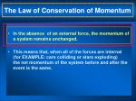 the law of conservation of momentum