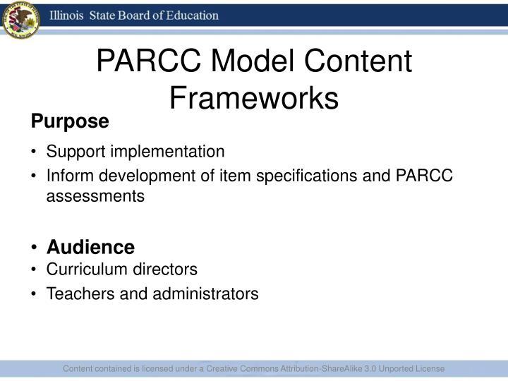 PARCC Model Content Frameworks