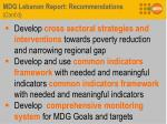 mdg lebanon report recommendations cont d2