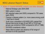 mdg lebanon report status5