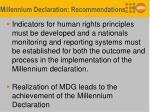 millennium declaration recommendations1