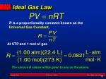 ideal gas law1