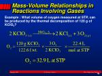 mass volume relationships in reactions involving gases1