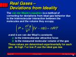 real gases deviations from ideality1