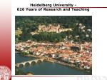 heidelberg university 626 years of research and teaching