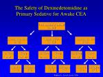 the safety of dexmedetomidine as primary sedative for awake cea