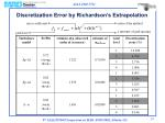 discretization error by richardson s extrapolation