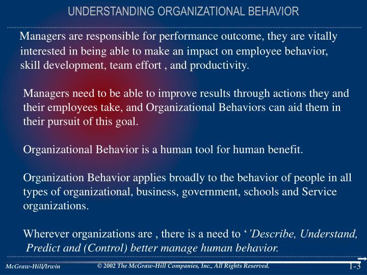 Understanding organizational behavior1