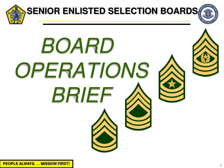 senior enlisted selection boards n.