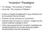 invention paradigms