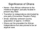 significance of ghana