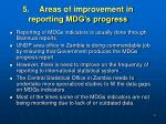 5 areas of improvement in reporting mdg s progress