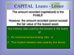 capital leases lessee