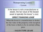 nonoperating leases lessor