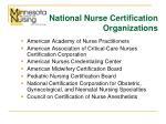 national nurse certification organizations