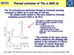 thermal activation of tds in mcz si
