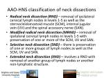aao hns classification of neck dissections