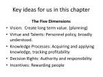 key ideas for us in this chapter