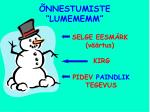 nnestumiste lumememm
