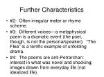 further characteristics1