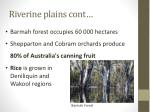 riverine plains cont