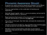 phonemic awareness should