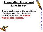 preparation for a load line survey
