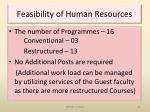feasibility of human resources