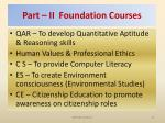 part ii foundation courses