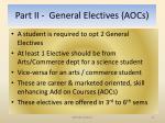 part ii general electives aocs