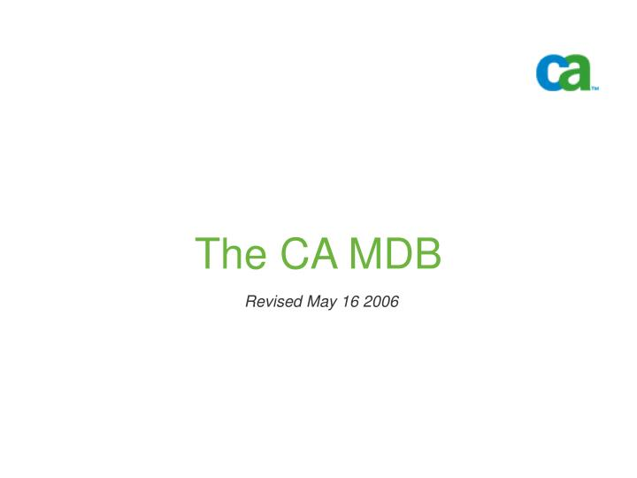 the ca mdb n.