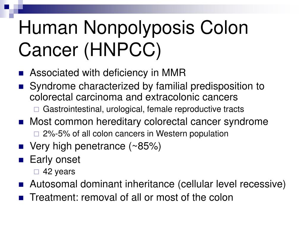 Ppt Msh2 And Human Nonpolyposis Colon Cancer Powerpoint Presentation Id 6716111