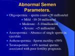 abnormal semen parameters