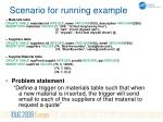 scenario for running example