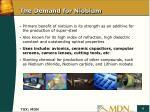 the demand for niobium