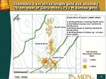 isambara 5 km strike length gold soil anomaly 70 km west of geita mine 10 m ounces gold