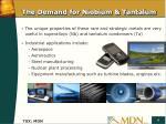 the demand for niobium tantalum