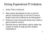 dining experience pi initiative4