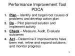 performance improvement tool pdca