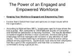 the power of an engaged and empowered workforce5