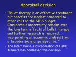 appraisal decision